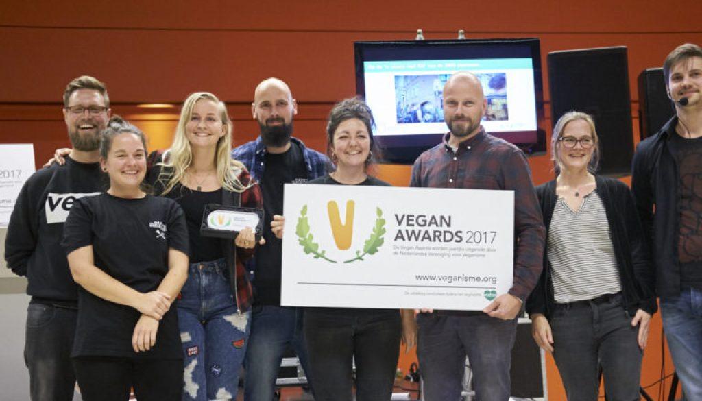 Wij wonnen de Vegan Awards 2017 voor Beste Nieuwkomer